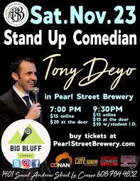 <b>Big</b> Bluff Comedy Presents <b>Stand</b>-<b>up</b> Comedian Tony Deyo ...