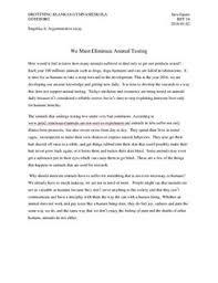 against animal testing  argumentative essay   studienetse against animal testing  argumentative essay