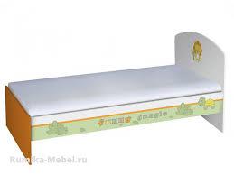 <b>Кровать детская Polini kids</b> Basic Джунгли 180х90 белый ...