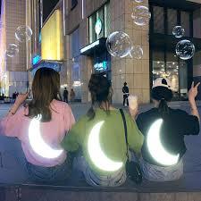 <b>Summer Korean version of</b> the loose moon reflective short-sleeved T ...