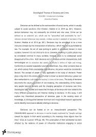 sclg   analytical essay sociological theories of deviance  sclg   analytical essay sociological theories of deviance