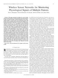 (PDF) <b>Wireless</b> Sensor Networks for Monitoring Physiological ...