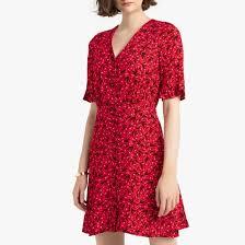<b>Платье короткое расклешенное</b> с v-образным вырезом и ...
