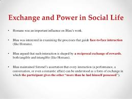 blaus social exchange theory exchange and power in social