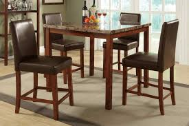 size dining room contemporary counter: faux marble counter height dining set