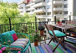 outdoorbalcony design with colorful rugs and chairs balcony design ideas for perfect home decor balcony design furniture