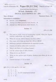 ptu ece digital electronics exam question paper  rest of the questions are attached in below file which is of cost