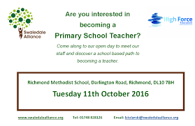 job opportunities richmond methodist primary school are you interested in becoming a primary school teacher