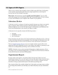 Sample Research Paper      Documents in PDF Sample Literature Review Text