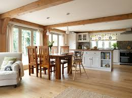 Living Room And Kitchen Border Oak Open Plan Kitchen Dining Living Room In A New Build