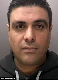 Rizwan Jahangir, left, had arranged to meet with Zahid Khan to see his new £250,000 Rolls Royce when the gang pounced. He was jailed for 13 years while ... - article-2610127-1D414D6900000578-832_306x423