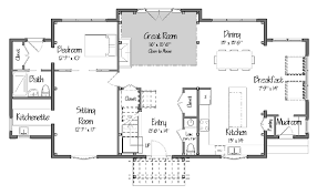 New Post and Beam Dutch Colonial Design from Yankee Barn Homespost and beam  The Tarrytown Level One Floor Plans