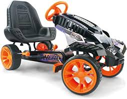 Nerf Battle Racer Pedal Go Kart, Orange/Grey/Black ... - Amazon.com