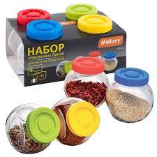 <b>Набор банок для сыпучих</b> продуктов Vaso (4шт.)