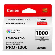 <b>Canon PFI</b>-<b>1000PGY Photo</b> Grey Ink Tank for Pixma PRO-1000 ...