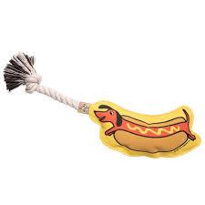 Hot Dog <b>Rope Toy, Dog</b> Toy - SpearmintLOVE