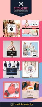 modern instagram web image advertising ad banner design templates