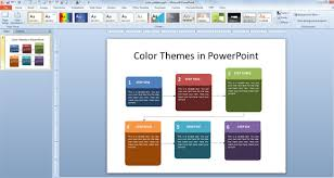 how to use the color themes in powerpoint 2010 change color scheme theme