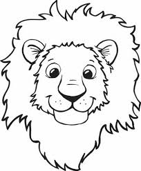 Small Picture coloring pages draw a lion face draw a lions face colouring pages