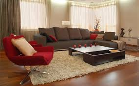 living room elegant color ideas for with brown couch and modern red chair home decor brown furniture living room ideas