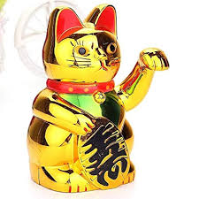 Minicartshop Gold Maneki Neko Cute Lucky Cat ... - Amazon.com