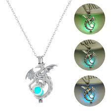 <b>2019 Fashion</b> Dragon Glowing Stone <b>Necklace Women</b> Man Glow ...