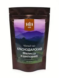 <b>Чай черный Краснодарский с</b> мелиссой и шиповником, 100 г 101 ...