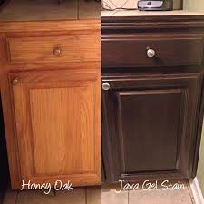 Diy Staining Kitchen Cabinets 4 Ideas How To Update Oak Wood Cabinets Stains Honey Oak