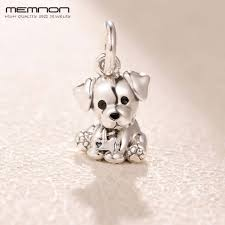 <b>100</b>% S925 dog floating charm Mother's Day 925 <b>sterling silver</b> ...