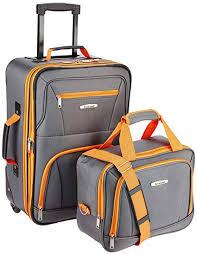 Amazon.com   Rockland Luggage <b>2 Piece Set</b>, Charcoal, One Size ...