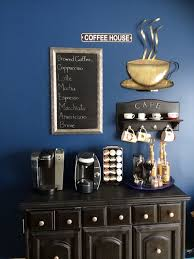 view in gallery coffee station with dark colors and chalkboard unique diy coffee station