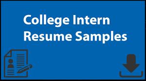 college intern resume samples