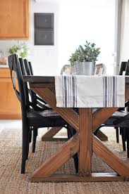 Farm Style Dining Room Tables Build X Table Farmhouse Style Build Table Comfy Kitchen Tables