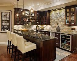 natural stone backsplash clear view cabinets cream bar chairs granite countertops wine check 35 home bar