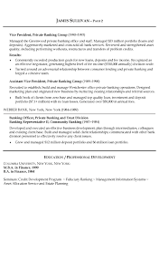 banking resume sample resume examples for banking jobs