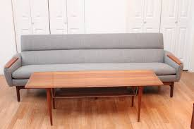 beautiful mid century modern danish sofa with teak armrests an orange moon home design inspiration beautiful mid century modern