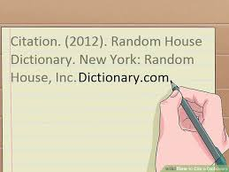 How To Cite An Online Dictionary In Apa Format Text   Cover Letter Example