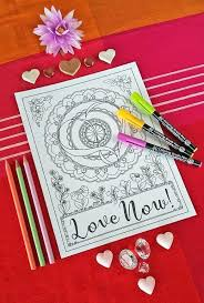 Small Picture Love Mandala Coloring Page for Grown Ups Red Ted Arts Blog