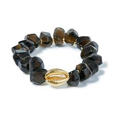 <b>Seed Bead Позолоченный браслет</b> Cowrie с раухтопазом | www ...