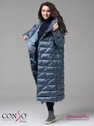 Оригинальное пальто <b>Conso</b> WL 180529 - storm – синий прямого ...