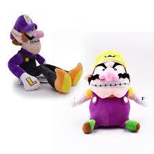 2 <b>styles Anime Super</b> Mario Bros Waluigi Wario Peluche Doll Plush ...