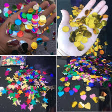 <b>20g</b>/pack Colorful Round Heart Star Foil <b>Confetti</b> Sequin for ...