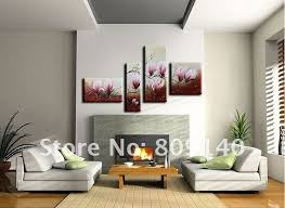 free shipping flower oil painting on canvas artwork abstract modern home office decoration wall art decor high quality handmade art for home office