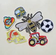 <b>1 Pcs</b> Cute Bee Football Car Embroidery Iron on <b>Patches for</b> ...