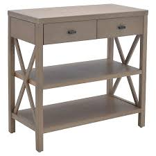 owings console table with 2 shelves and drawers rustic threshold cheap entryway furniture