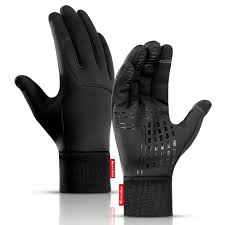 <b>Men</b> PU Leather Fleece <b>Glove</b> Outdoor <b>Cycling Windproof Glove</b> ...