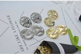 Carvejewl stud <b>earring</b> bumpy <b>oval</b> stamping big stud <b>earrings</b> for ...
