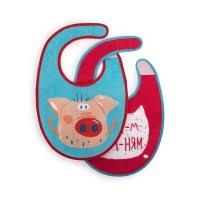 <b>Набор нагрудных фартуков Happy</b> Baby pig, 2 шт. купить по цене ...