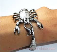 <b>Baqi</b> Men's <b>Bracelet Titanium Steel</b> Stainless <b>Steel</b> Scorpion ...