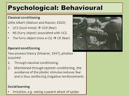 Psychological  Behavioural Classical conditioning Not everyone who is bitten by a dog develops a phobia SlidePlayer